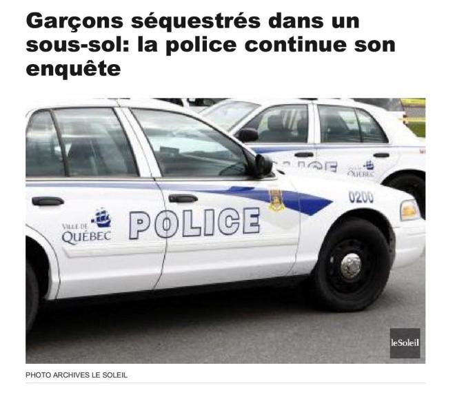 Garçons séquestrés dans un sous-sol_ la police continue son enquête1