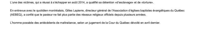 Prisonniers d'un pasteur de Québec pendant plusieurs années _ JDQ2